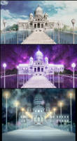 Moon Kingdom Castle, Day and Night (SMC) by Moon-Shadow-1985
