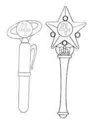 Jupiter's 1st and 2nd Arcs Henshin Items by Moon-Shadow-1985