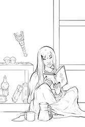 Free Lines: Sybil Studying by kelley-a