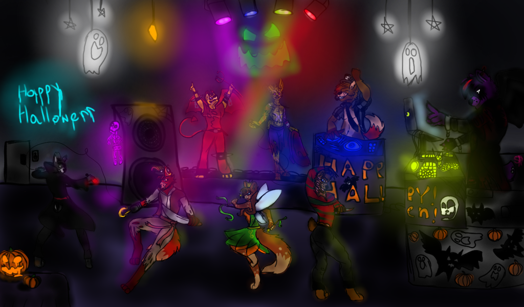 Halloween party! -contest entry- by Springgow0322