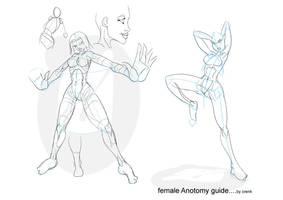 Female anatomy by OrenK