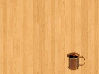 Wood Coffee cup by gnrbishop