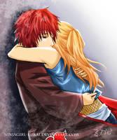 Sasodei: hug Prize by ninjagirl-rukai