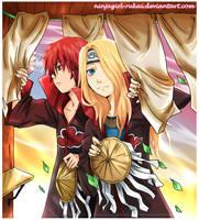 Sasodei: sunset gift by ninjagirl-rukai