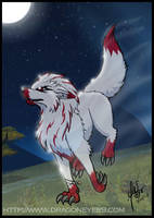 Sketch: 4 'The Ghost Wolf' by Nehku