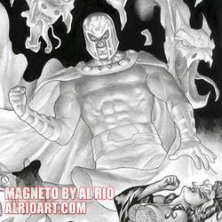 Magneto and Rogue by Al Rio by AlRioArt