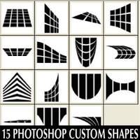 Custom Shapes Set For Photoshop CS by Brushportal