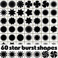 60 free star burst Photoshop shapes by Brushportal