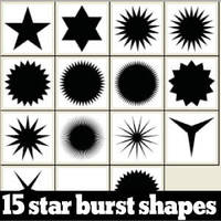 15 free star burst custom shapes by Brushportal