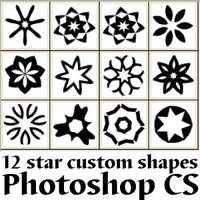 Star Photoshop Custom Shapes by Brushportal