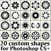 Circular Abstract Custom Shapes by Brushportal