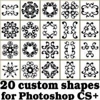 Tribal Custom Photoshop Shapes Set by Brushportal