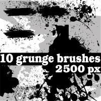 Grunge Photoshop Brushes by Brushportal