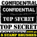Top Secret Stamp Brushes For Photoshop by Brushportal