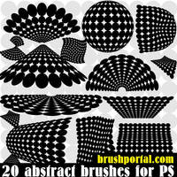 Abstract Dots Shapes brushes for Photoshop 2500 px by Brushportal
