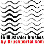 16 free Illustrator brushes by Brushportal