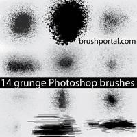 Grunge brushes for Photoshop by Brushportal