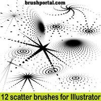 Illustrator scatter brushes - free set by Brushportal
