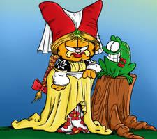 Garfield's Frog Bride by AeonOfTime