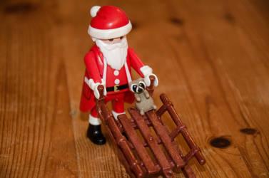 Santa and his helper by AeonOfTime