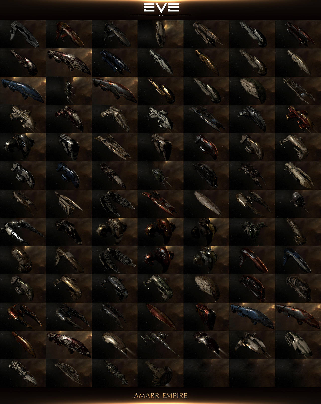 The Ships Of EVE Online 2014: Amarr Empire by AeonOfTime