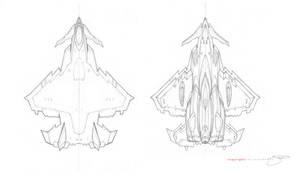 V-21 Dagger Spacecraft Fighter by mavartworx