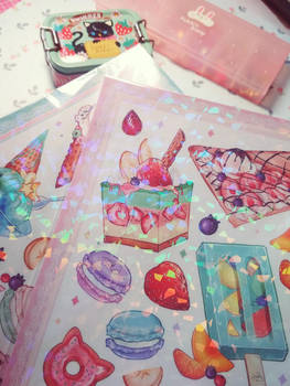 Preorder SWEETS HOLO Sticker Sets A5 by Dreaming-Witch