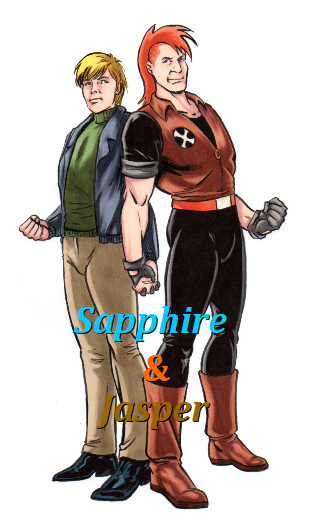 Sapphire and Jasper by Aubrie1234