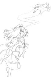 Fire ninja by CarusimaHikura