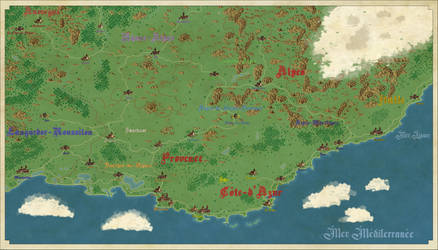 Map of Provence by Dowdidik