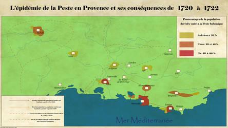 Carte de la Peste de Provence by Dowdidik