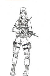 TF 141 operator inked by ThomChen114