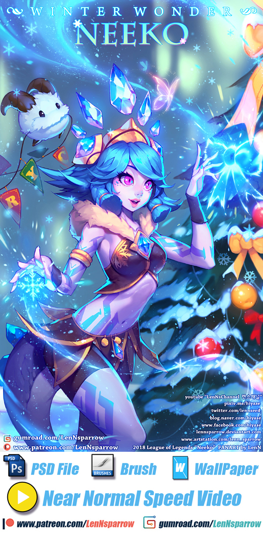 League of Legends WINTER WONDER NEEKO by LenNsparrow