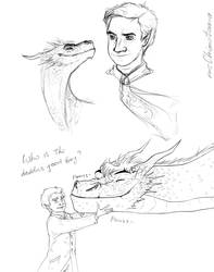 Chideon|Hobbit AU sketches by msChimotoma