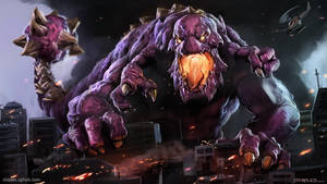 Godzilla Battle Monster by StaplesART