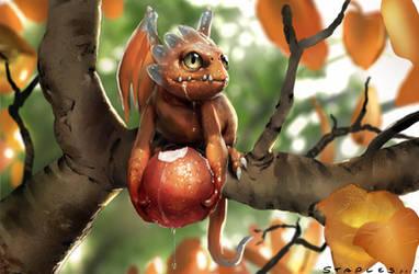 Fruit Dragon by StaplesART
