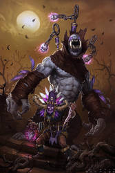 Diablo 3 Anniversary - Gargantuan Witch Doctor by StaplesART