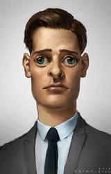 Unsettling Portrait by StaplesART