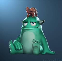 Mr Squats - Process Video Illustration by StaplesART
