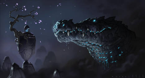 Epic Croc (with Process Video) by StaplesART