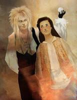 Jareth and Sarah by exedor3