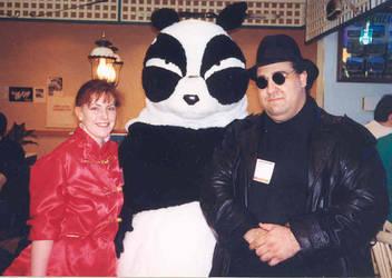 Panda Genma Saotome and female Ranma and MIB by DJREALMADRID2K