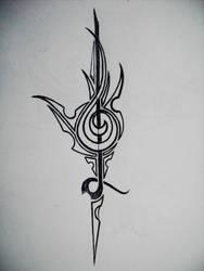tribal treble clef by gedash