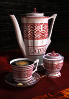 Ceramic Tableware ''Latvija'' by Gothicpagan