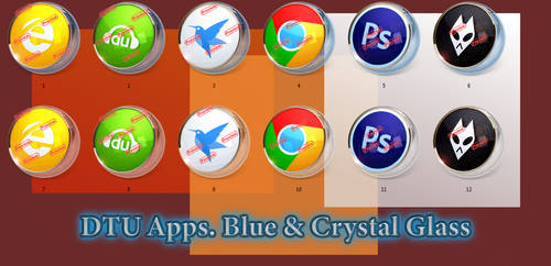 DTU Apps. Blue and Crystal Glass. by Fiazi
