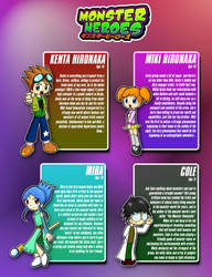Monster Heroes Main Cast by CYSYS8993
