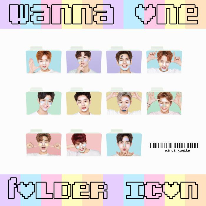 Folder Icon 2 Wanna One Pastel Edition By Mingikumiko On Deviantart