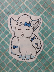 Snowy Alolan Vulpix by jcpeters726