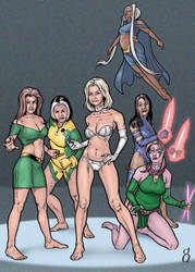 X-Women Middle Age by DrainAge-AP