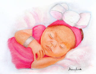 Baby in Pink by ElorieAlton